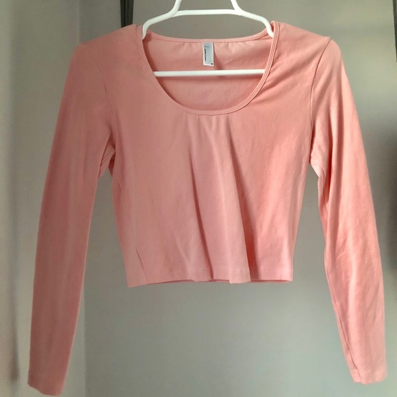 7dbede49461 American Apparel Tops | Nwot Light Pink Long Sleeve Crop | Poshmark